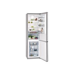 Réfrigérateur AEG S83920CTX2 - Réfrigérateur/congélateur - pose libre - largeur : 59.5 cm - profondeur : 64.7 cm - hauteur : 200 cm - 357 litres - congélateur bas - Classe A++ - inox/argent