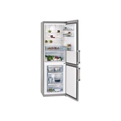 Réfrigérateur AEG S73520CMX2 - Réfrigérateur/congélateur - pose libre - largeur : 59.5 cm - profondeur : 64.7 cm - hauteur : 184 cm - 312 litres - congélateur bas - Classe A++ - inox/argent