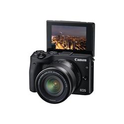 Appareil photo Canon EOS M3 - Appareil photo numérique - sans miroir - 24.2 MP - APS-C - 1080p / 30 pi/s - 3x zoom optique lentille EF-M 15-45 mm - Wi-Fi, NFC - noir
