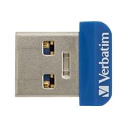 Clé USB Verbatim Store 'n' Stay NANO - Clé USB - 64 Go - USB 3.0 - bleu