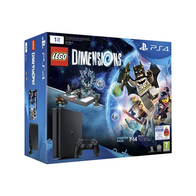 Sony - PS4 BLACK 1TB D + LEGO DIMENSION SP