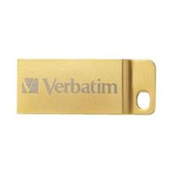 Clé USB Verbatim Metal Executive - Clé USB - 64 Go - USB 3.0 - or