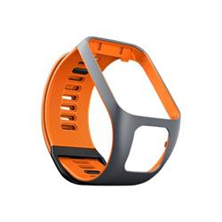 TomTom - L - bracelet de montre - orange/gris - pour TomTom Spark 3, Spark 3 Cardio, Spark 3 Cardio + Music, Spark 3 Music + Headphones