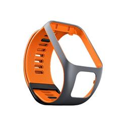 TomTom - S - bracelet de montre - orange/gris - pour TomTom Spark 3, Spark 3 Cardio, Spark 3 Cardio + Music, Spark 3 Music + Headphones
