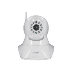 Caméscope pour vidéo surveillance Atlantis Land +CamHDMotor7000 - Caméra de surveillance réseau - panoramique / inclinaison - couleur (Jour et nuit) - 1 MP - 1280 x 720 - Focale fixe - audio - sans fil - Wi-Fi - LAN 10/100 - H.264 - CC 5 V