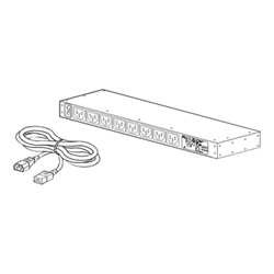 APC Metered Rack PDU AP7821B - Unité de distribution secteur (rack-montable) - CA 100-240 V - Ethernet 10/100 - entrée : IEC 60320 C20 - connecteurs de sortie : 8 (IEC 60320 C13) - 1U - 2.5 m