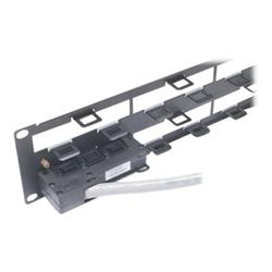 APC Data Distribution 2U Panel - Boîtier de panneau de câblage - 2U - pour P/N: AR3100