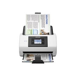 Scanner Epson WorkForce DS-780N - Scanner de documents - Recto-verso - Legal/A4 - 600 ppp x 600 ppp - jusqu'à 45 ppm (mono) / jusqu'à 45 ppm (couleur) - Chargeur automatique de documents (100 feuilles) - jusqu'à 5000 pages par jour - USB 3.0, Gigabit LAN