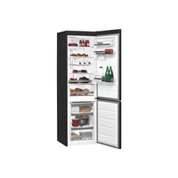 Réfrigérateur Whirlpool BSNF 8999 PB - Réfrigérateur/congélateur - pose libre - largeur : 59.5 cm - profondeur : 64.9 cm - hauteur : 188.8 cm - 296 litres - congélateur bas - Classe A+++ - noir