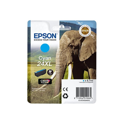 Epson - CARTUCCIA CIANO SERIE24XL ELEFANTE