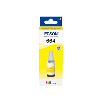 Flacone ricarica inchiostro Epson - T6641 FLACONE GIALLO 70ML