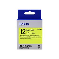 Ruban Epson LabelWorks LK-4YBF - Noir sur jaune - Rouleau (1,2 cm x 2,9 m) 1 rouleau(x) bande d'étiquettes - pour LabelWorks LW-1000, LW-300, LW-400, LW-600, LW-700, LW-900, LW-K400, LW-Z700, LW-Z900