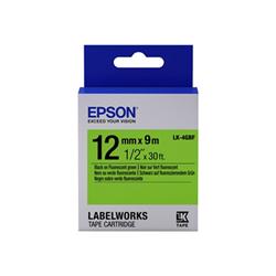Ruban Epson LabelWorks LK-4GBF - Noir sur vert - Rouleau (1,2 cm x 9 m) 1 rouleau(x) bande d'étiquettes - pour LabelWorks LW-1000, LW-300, LW-400, LW-600, LW-700, LW-900, LW-K400, LW-Z700, LW-Z900