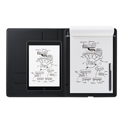 Stylet Wacom Bamboo Folio - Numériseur - électromagnétique - sans fil - Bluetooth, micro USB - gris foncé