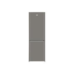 Réfrigérateur Beko CN232121T - Réfrigérateur/congélateur - pose libre - largeur : 59.5 cm - profondeur : 60 cm - hauteur : 185.3 cm - 287 litres - congélateur bas - classe A+ - inox