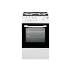 Cuisinière à gaz Beko CSG 42000 DW - Cuisinière - pose libre - largeur : 50 cm - profondeur : 50 cm - hauteur : 85 cm - blanc