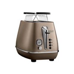 Grille pain De'Longhi Distinta CTI 2103.BZ - Grille-pain - 2 tranche - 2 Emplacements - bronze futur
