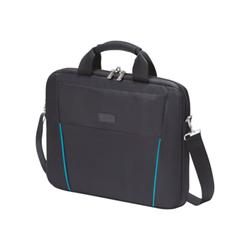 """Sacoche Dicota Slim Case BASE - Sacoche pour ordinateur portable - 15.6"""" - noir, bleu"""