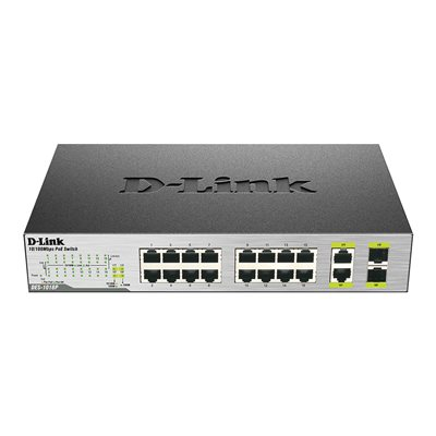 D-Link - SWITCH UNMAN 16 PORTE POE 2GIGABIT