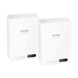Adaptateur CPL D-Link PowerLine AV2 2000 HD Gigabit Starter Kit DHP-701AV - Pont - GigE, HomePlug AV (HPAV), HomePlug AV (HPAV) 2.0 - Branchement mural (pack de 2)