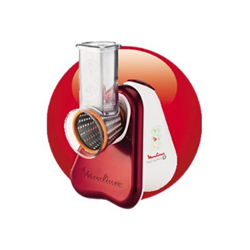 Moulinex Fresh Express Plus DJ755G Ruby Red - Râpe électrique - 150 Watt - Rouge rubis