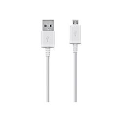 Câble Samsung ECB-DU4EWE - Câble USB - Micro-USB Type B (M) pour USB (M) - USB 2.0 - 1.5 m - blanc - Europe