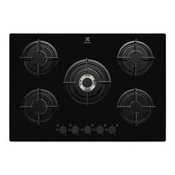 Plan de cuisson Electrolux Quadro EGT7252NOK - Table de cuisson au gaz - 5 plaques de cuisson - Niche - largeur : 56 cm - profondeur : 48 cm - noir