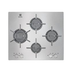 Plan de cuisson Electrolux EGU6647LOX - Table de cuisson au gaz - 4 plaques de cuisson - Niche - largeur : 56 cm - profondeur : 49 cm - argent - sans cadre - inox