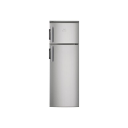 Réfrigérateur Electrolux EJ2302AOX2 - Réfrigérateur/congélateur - pose libre - largeur : 54.5 cm - profondeur : 60.4 cm - hauteur : 140.4 cm - 228 litres - congélateur haut - Classe A++ - inox/argent