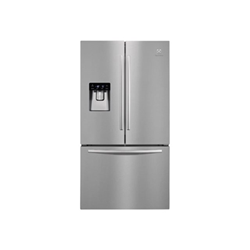 Réfrigérateur Electrolux EN6084JOX - Réfrigérateur/congélateur - pose libre - largeur : 91.2 cm - profondeur : 76.5 cm - hauteur : 177.6 cm - 536 litres - style français avec Distributeur d'eau et de glaçons - classe A+ - inox