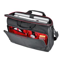 """Sacoche Fujitsu Prestige Top Case 15 - Sacoche pour ordinateur portable - 15.6"""" - noir, rouge"""