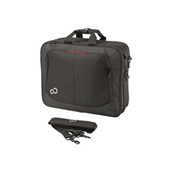 "Sacoche Fujitsu Prestige Case 16 - Sacoche pour ordinateur portable - 16"" - noir/rouge - pour CELSIUS Mobile H760; LIFEBOOK A555, A555G, A556, A556/G, E554, E556, E754, E756, U745"