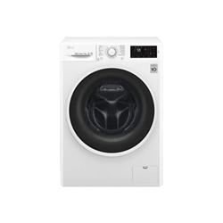 Lave-linge LG F4J6QN0W - Machine à laver - pose libre - largeur : 60 cm - profondeur : 56 cm - hauteur : 85 cm - chargement frontal - 59 litres - 7 kg