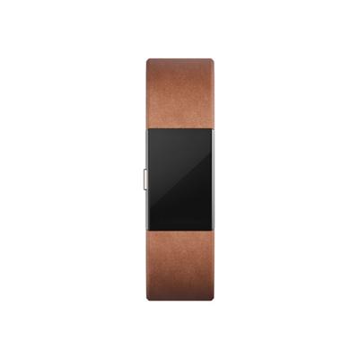 Fitbit - BRACC PELLE MARRONE L - CHARGE 2 -L