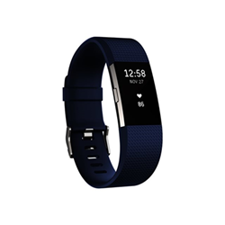 Smartwatch CHARGE 2 BLU ARGENTO - tg.L - fitbit - monclick.it
