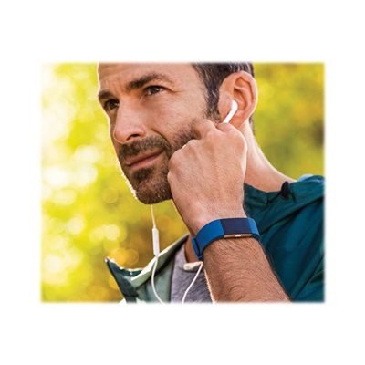Fitbit - CHARGE 2 - LARYON - BLU ARGENTO SMA