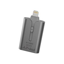 Clé USB PNY Duo-Link 3.0 - Clé USB - 32 Go - USB 3.0 / Lightning