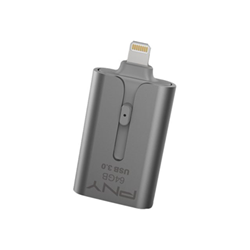 Clé USB PNY Duo-Link 3.0 - Clé USB - 64 Go - USB 3.0 / Lightning