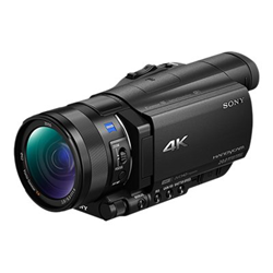 Caméscope Sony Handycam FDR-AX100 - Caméscope - 4K - 20.9 MP - 12x zoom optique - Carl Zeiss - carte Flash - Wi-Fi, NFC - noir