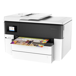 Imprimante  jet d'encre multifonction HP Officejet Pro 7740 All-in-One - Imprimante multifonctions - couleur - jet d'encre - Legal (216 x 356 mm) (original) - jusqu'à 33 ppm (copie) - jusqu'à 34 ppm (impression) - 250 feuilles - 33.6 Kbits/s - USB 2.0, LAN, Wi-Fi(n), hôte USB