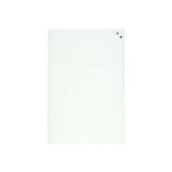 Tableau MOLHO LEONE - Tableau blanc - montable au mur - 600 x 400 mm - verre - magnétique - blanc