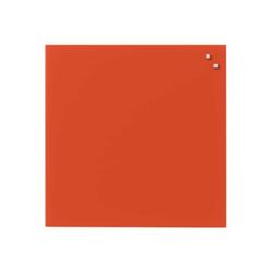Tableau MOLHO LEONE - Tableau blanc - montable au mur - 450 x 450 mm - verre - magnétique - rouge clair