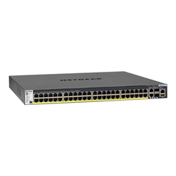 Commutateur NETGEAR ProSAFE M4300-52G-PoE+ - Commutateur - C3 - Géré - 2 x 10/100/1000/10000 + 2 x 10 Gigabit SFP+ + 48 x 10/100/1000 (PoE+) - Montable sur rack - PoE+ (480 W)
