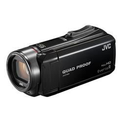 Caméscope JVC EverioR GZ-R410 - Caméscope - mode écran large - 2.5 MP - 40 x zoom optique - Konica Minolta - carte Flash - sous-marin jusqu'à 5m - noir