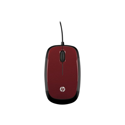 Mouse HP - HP WIRED MOUSE X1200 (RED)