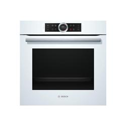 Four encastrable Bosch Serie 8 HBG633BW1J - Four - intégrable - niche - largeur : 56 cm - profondeur : 55 cm - hauteur : 60 cm - avec système auto-nettoyant - classe A+ - blanc