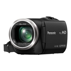 Caméscope Panasonic HC-V180 - Caméscope - 1080p / 50 pi/s - 2.51 MP - 50x zoom optique - carte Flash