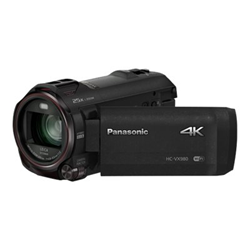 Caméscope Panasonic HC-VX980 - Caméscope - 4K / 25 pi/s - 18.91 MP - 20x zoom optique - Leica - carte Flash - Wi-Fi - noir