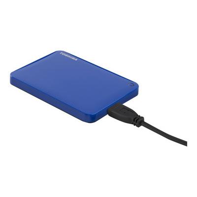 Toshiba - CANVIO CONNECT II BLUE