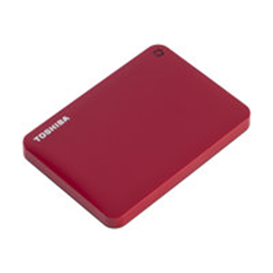 Foto Hard disk esterno Canvio connect ii red Toshiba Hard disk esterni